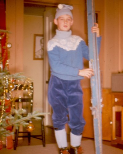 Christmas 1962, ready for the slopes!